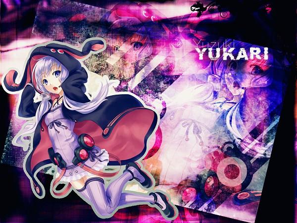 Tags: Anime, 1011003 (Artist), Voiceroid, VOCALOID, Yuzuki Yukari, Fanmade Wallpaper, Wallpaper, Edited