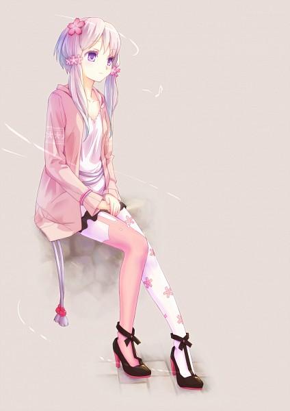 Tags: Anime, haiiro, Voiceroid, VOCALOID, Yuzuki Yukari, Animal Legwear, V4, Pixiv, Mobile Wallpaper, Fanart From Pixiv, Fanart, PNG Conversion