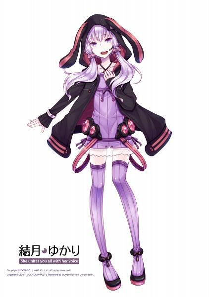 Tags: Anime, Ayakura Juu, Voiceroid, VOCALOID, Yuzuki Yukari, Purple Legwear, PNG Conversion, Cover Image, Official Art, Mobile Wallpaper