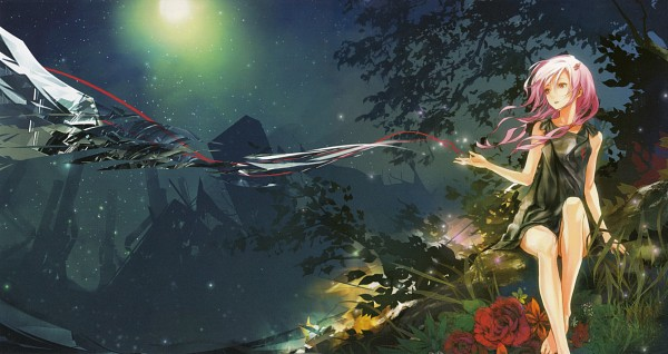 Tags: Anime, redjuice, Supercell, GUILTY CROWN, Redjuice's Notebook 2, Yuzuriha Inori, CD (Source), EGOIST, Official Art, HD Wallpaper, Scan, Facebook Cover, Wallpaper