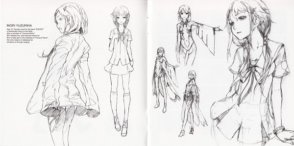 Tags: Anime, redjuice, GUILTY CROWN, GUILTY CROWN - Redjuice's Notebook, Yuzuriha Inori, Scan, Comic Market 80, Facebook Cover, Official Art, Sketch