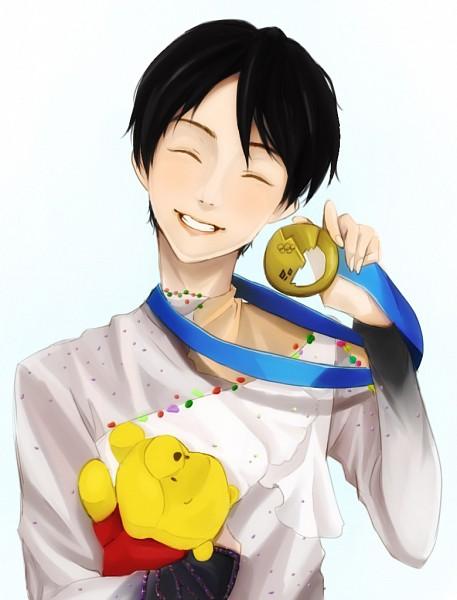 Tags: Anime, Pixiv Id 4236975, Winnie the Pooh, Yuzuru Hanyu, Pooh Bear, Medal, Olympics, Disney
