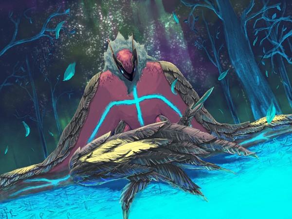 Tags: Anime, Pixiv Id 178417, Pokémon, Yveltal, Fanart, Fanart From Pixiv, Legendary Pokémon, Pixiv