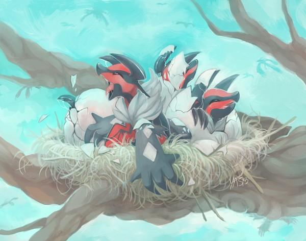 Tags: Anime, Yassui, Pokémon, Yveltal, Hatching, Fanart From DeviantART, Fanart, Legendary Pokémon, deviantART