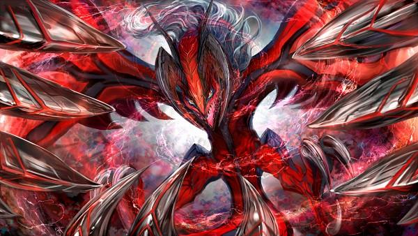 Tags: Anime, Thyr, Pokémon, Yveltal, 1600x900 Wallpaper, Pixiv, Fanart From Pixiv, Wallpaper, Legendary Pokémon, Fanart, Facebook Cover