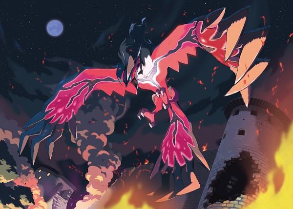Tags: Anime, Oomura Yusuke, GAME FREAK, Nintendo, Pokémon, Yveltal, Legendary Pokémon, Official Art