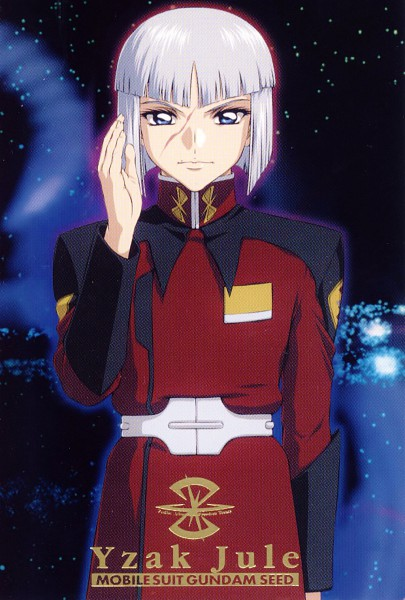 Tags: Anime, Hirai Hisashi, Sunrise (Studio), Mobile Suit Gundam SEED, Yzak Joule, Official Art, Scan