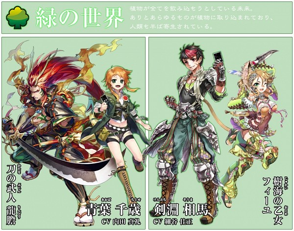 Tags: Anime, Ryuutetsu, Nippon Ichi Software, BROCCOLI, Z/X - Zillions of Enemy X, Kenbuchi Souma, Maiden Of The Forest Fille, Aoba Chitose, Rindou (Z/X: Ignition), Official Character Information, Official Art