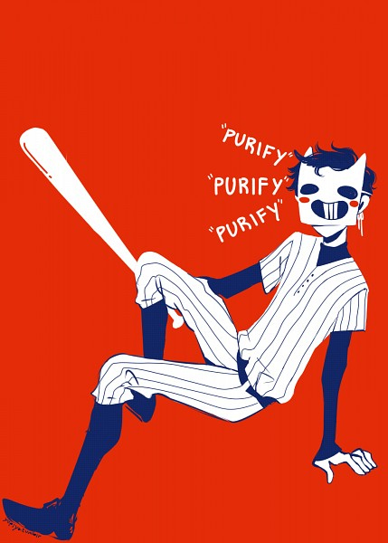 Tags: Anime, OFF (Game), Zacharie, Baseball Uniform, Tumblr, Mobile Wallpaper