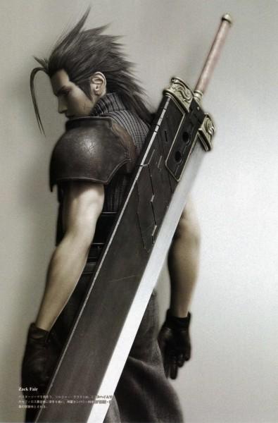 Tags: Anime, SQUARE ENIX, Final Fantasy VII, Zack Fair, Buster Sword, 3D, Mobile Wallpaper
