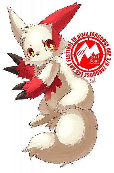 Tags: Anime, Pixiv Id 763010, Pokémon, Zangoose, Fanart From Pixiv, Fanart, PNG Conversion, Mobile Wallpaper, Pixiv