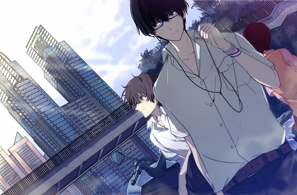 Tags: Anime, nic (KEVIN), Zankyou no Terror, Hisami Touji, Kokonoe Arata, Mishima Risa, Pixiv, Fanart, Fanart From Pixiv