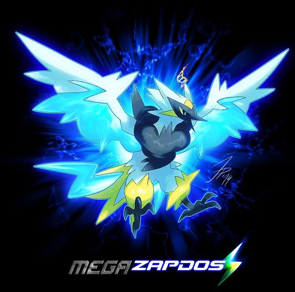 Tags: Anime, Cat-meff, Pokémon, Zapdos, Legendary Pokémon, Mega Form (Pokémon), Tumblr, Fanart, PNG Conversion