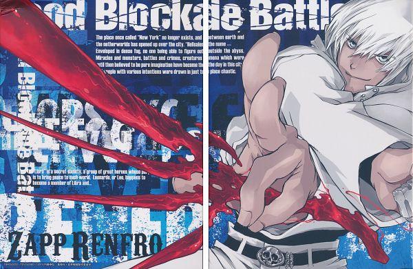 Tags: Anime, Nightow Yasuhiro, BONES (Studio), Kekkai Sensen, Zapp Renfro, DVD (Source), Official Art, Scan