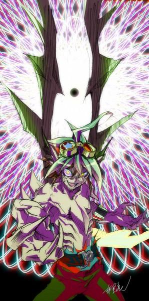 Tags: Anime, Pixiv Id 1209073, Yu-Gi-Oh!, Yu-Gi-Oh! ARC-V, Zarc, Sakaki Yuya, PNG Conversion, Pixiv, Fanart, Fanart From Pixiv