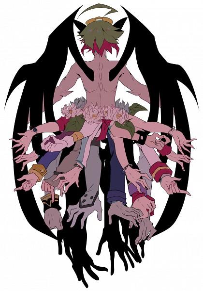Tags: Anime, Pixiv Id 18226743, Yu-Gi-Oh!, Yu-Gi-Oh! ARC-V, Sakaki Yuya, Zarc, Pixiv, Fanart, Fanart From Pixiv, Mobile Wallpaper, PNG Conversion
