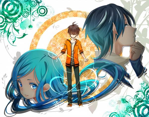 Tags: Anime, Hii101, Zaregoto Series, Boku (Zaregoto), Kunagisa Tomo, Thinking, Pixiv, Fanart, Character Request