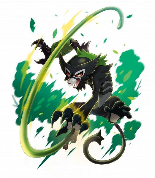 Tags: Anime, GAME FREAK, Pokémon (Anime), Gekijouban Pokémon: Coco, Pokémon Sword & Shield, Pokémon, Zarude, Official Art, Legendary Pokémon