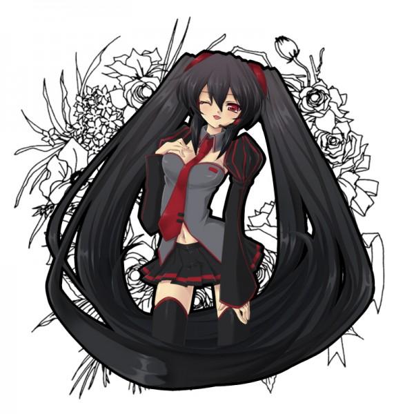Tags: Anime, Minoru, VOCALOID, Zatsune Miku, Pixiv