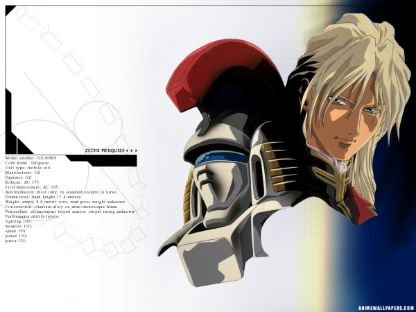 Tags: Anime, Mobile Suit Gundam Wing, Oz-00ms Tallgeese, Zechs Merquise, Wallpaper