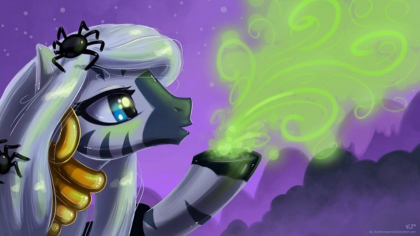 Tags: Anime, KP-ShadowSquirrel, My Little Pony, Zecora, Zebra, Spider, Wallpaper