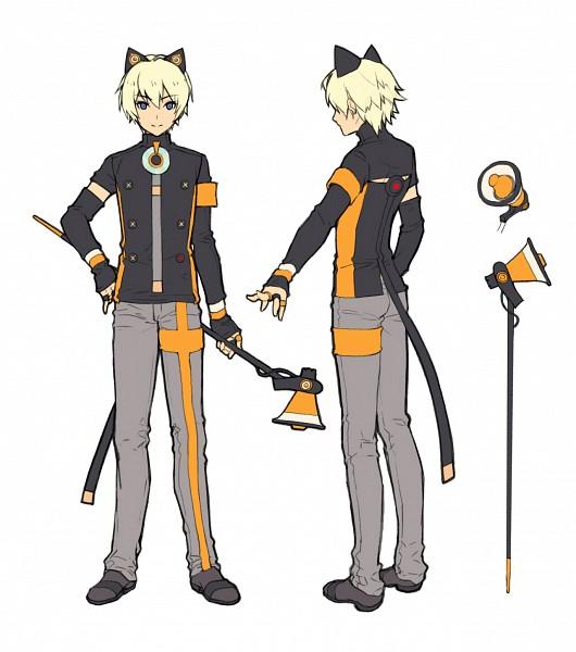 Tags: Anime, KKUEM, VOCALOID, ZeeU, Gray Neckwear, PNG Conversion, Official Art, Character Sheet