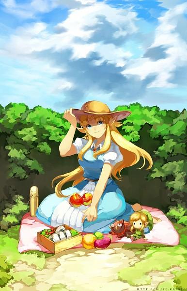 Tags: Anime, Muse (Rainforest), Zelda no Densetsu: Kamigami no Triforce, Zelda no Densetsu, Princess Zelda, Zelda (Kamigami no Triforce), Link, Ganon (Zelda no Densetsu), Beast, Picnic, Onigiri, deviantART, Fanart