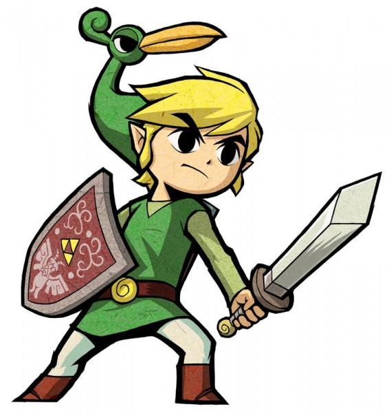 Tags: Anime, Nintendo, Zelda no Densetsu: Fushigi no Boushi, Zelda no Densetsu, Link (Fushigi no Boushi), Ezlo, Link, Triforce, Cover Image, Official Art, Artist Request, The Legend Of Zelda The Minish Cap