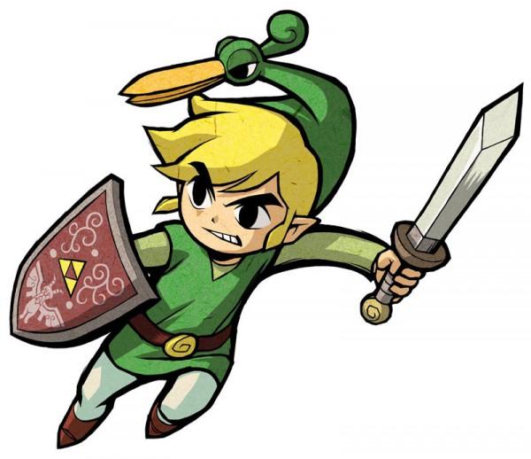 Tags: Anime, Nintendo, Zelda no Densetsu, Zelda no Densetsu: Fushigi no Boushi, Link (Fushigi no Boushi), Ezlo, Link, Triforce, Artist Request, Cover Image, Official Art, The Legend Of Zelda The Minish Cap