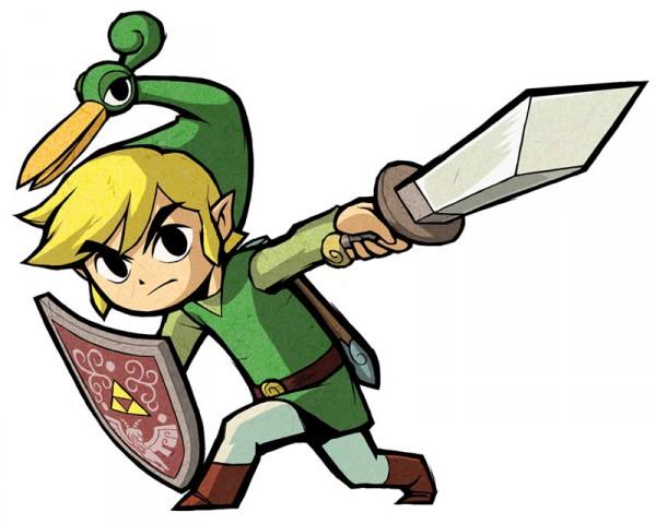 Tags: Anime, Nintendo, Zelda no Densetsu: Fushigi no Boushi, Zelda no Densetsu, Link, Link (Fushigi no Boushi), Ezlo, Triforce, Artist Request, Official Art, The Legend Of Zelda The Minish Cap