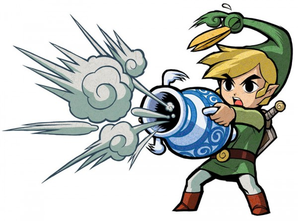 Tags: Anime, Nintendo, Zelda no Densetsu: Fushigi no Boushi, Zelda no Densetsu, Link (Fushigi no Boushi), Ezlo, Link, Vase, Artist Request, Official Art, The Legend Of Zelda The Minish Cap