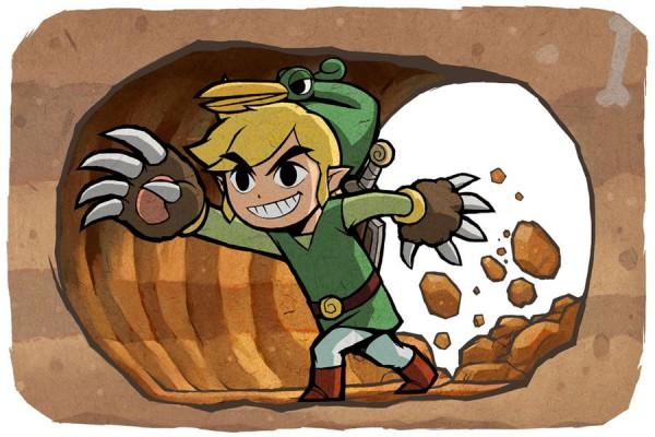 Tags: Anime, Nintendo, Zelda no Densetsu: Fushigi no Boushi, Zelda no Densetsu, Ezlo, Link (Fushigi no Boushi), Link, Artist Request, Official Art, The Legend Of Zelda The Minish Cap