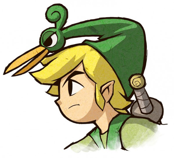 Tags: Anime, Nintendo, Zelda no Densetsu: Fushigi no Boushi, Zelda no Densetsu, Ezlo, Link (Fushigi no Boushi), Link, Artist Request, Official Art, The Legend Of Zelda The Minish Cap