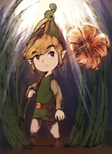 Tags: Anime, Pixiv Id 1457019, Zelda no Densetsu, Zelda no Densetsu: Fushigi no Boushi, Ezlo, Link (Fushigi no Boushi), Link, Fanart From Pixiv, Fanart, Mobile Wallpaper, Pixiv, The Legend Of Zelda The Minish Cap