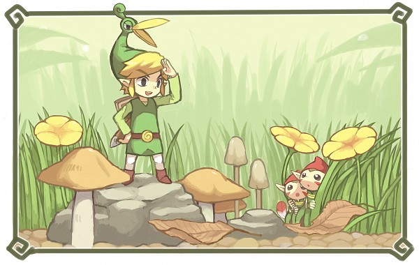 Tags: Anime, KIRU75, Zelda no Densetsu, Zelda no Densetsu: Fushigi no Boushi, Link (Fushigi no Boushi), Minish, Ezlo, Link, Tunic, Fanart From DeviantART, deviantART, PNG Conversion, Fanart, The Legend Of Zelda The Minish Cap