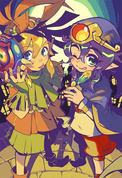 Tags: Anime, juby, Zelda no Densetsu: Kamigami no Triforce 2, Zelda no Densetsu, Link (Kamigami no Triforce 2), Link, Ravio, Vaati (Cosplay), Skull Kid (Cosplay), Fanart, Tumblr, A Link Between Worlds