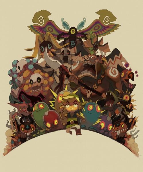Tags: Anime, Pixiv Id 121226, Zelda no Densetsu, Zelda no Densetsu: Kaze no Takuto, Morth, Link (Kaze no Takuto), Wizzrobe, Armos, Moblin, Red Bubble, Poe (The Legend Of Zelda), Link, Miniblin, The Legend Of Zelda: The Wind Waker