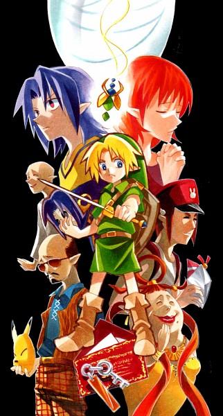 Tags: Anime, Pixiv Id 9250993, Zelda no Densetsu, Zelda no Densetsu: Mujura no Kamen, Young Link, Madame Aroma, Kafei, Anju (Mujura no Kamen), Man from Curiosity Shop, Link, Postman (Zelda no Densetsu), Postman, Fanart, The Legend Of Zelda: Majora's Mask