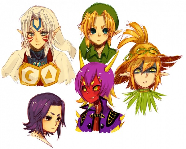 Tags: Anime, Onisuu, Zelda no Densetsu: Mujura no Kamen, Zelda no Densetsu, Fierce Deity, Kafei, Link, Majora, Young Link, Skull Kid, Fanart, Fanart From DeviantART, PNG Conversion, The Legend Of Zelda: Majora's Mask