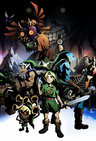 Tags: Anime, Lychi, Zelda no Densetsu: Mujura no Kamen, Zelda no Densetsu, Deku (Zelda no Densetsu), Link, Taya (Mujura no Kamen), Majora, Deku Link, Young Link, Zora Link, Tael, Skull Kid, The Legend Of Zelda: Majora's Mask