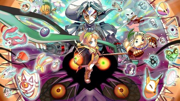 Tags: Anime, Pixiv Id 6102022, Zelda no Densetsu, Zelda no Densetsu: Mujura no Kamen, Link, Zora Link, Fierce Deity, Goron Link, Taya (Mujura no Kamen), Young Link, Majora, Kafei, Deku Link, The Legend Of Zelda: Majora's Mask