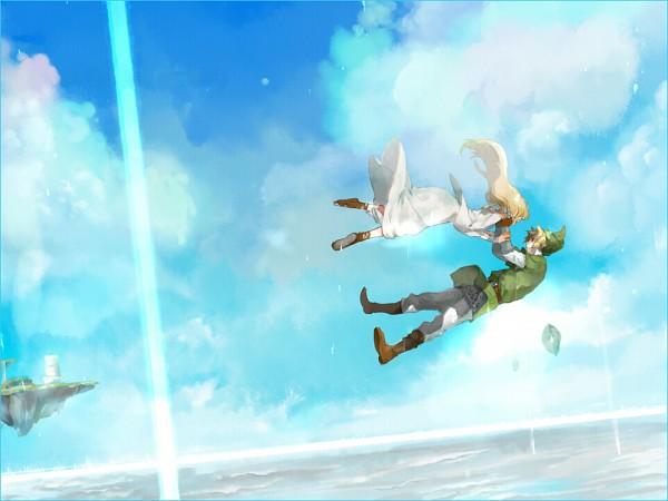 Tags: Anime, Pixiv Id 1859938, Zelda no Densetsu, Zelda no Densetsu: Skyward Sword, Princess Zelda, Link (Skyward Sword), Link, Zelda (Skyward Sword)