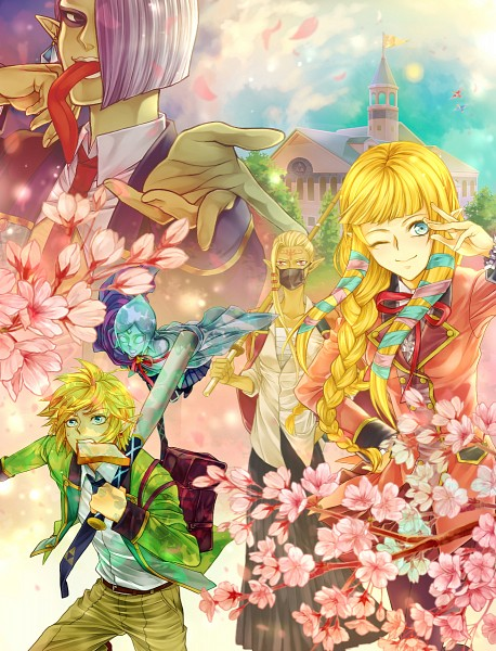 Tags: Anime, Pixiv Id 2649167, Zelda no Densetsu, Zelda no Densetsu: Skyward Sword, Impa, Fi, Princess Zelda, Link (Skyward Sword), Ghirahim, Link, Impa (Skyward Sword), Zelda (Skyward Sword), Sheikah