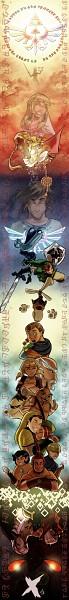 Tags: Anime, Tiuanarui, Zelda no Densetsu: Skyward Sword, Zelda no Densetsu, Fledge, Ledd (Skyward Sword), Pipit, Gaepora (Skyward Sword), Link (Skyward Sword), Peatrice, Ancient Robot, Impa, Impa (Skyward Sword)