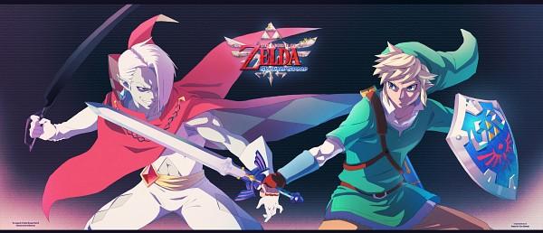 Tags: Anime, 2d75 (Artist), Zelda no Densetsu, Zelda no Densetsu: Skyward Sword, Ghirahim, Link (Skyward Sword), Link, Master Sword, deviantART, Fanart From DeviantART, Facebook Cover, Fanart