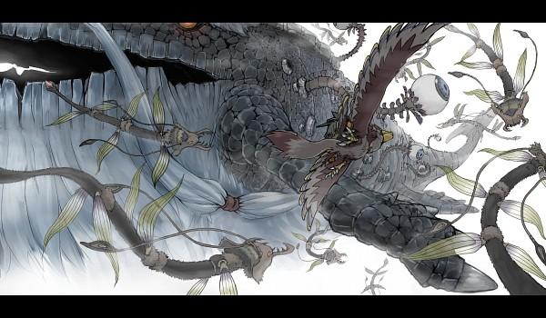 Tags: Anime, Pixiv Id 2779139, Zelda no Densetsu, Zelda no Densetsu: Skyward Sword, Link, Loftwing, Levias, Link (Skyward Sword), Eyeball, Pixiv, Fanart From Pixiv, Fanart