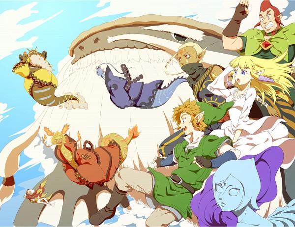 Tags: Anime, Saiba (Henrietta), Zelda no Densetsu: Skyward Sword, Zelda no Densetsu, Faron (Skyward Sword), Groose, Levias, Impa, Link (Skyward Sword), Fi, Lanayru (Skyward Sword), Princess Zelda, Impa (Skyward Sword)