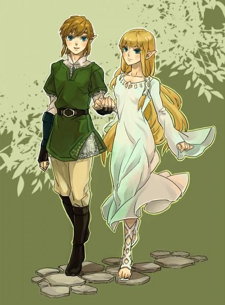 Tags: Anime, Pixiv Id 2283371, Zelda no Densetsu, Zelda no Densetsu: Skyward Sword, Link (Skyward Sword), Princess Zelda, Zelda (Skyward Sword), Link, Fanart, Pixiv, Fanart From Pixiv, Mobile Wallpaper