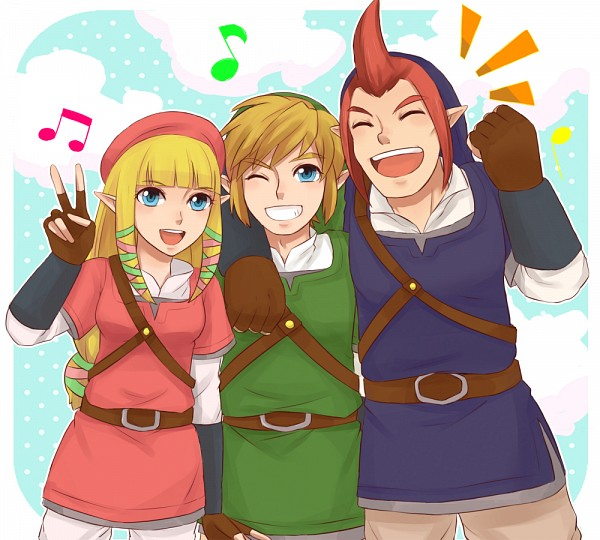 Tags: Anime, Pixiv Id 3845604, Zelda no Densetsu: Skyward Sword, Zelda no Densetsu, Groose, Link, Link (Skyward Sword), Zelda (Skyward Sword), Princess Zelda, Fanart From Pixiv, Pixiv, PNG Conversion, Fanart