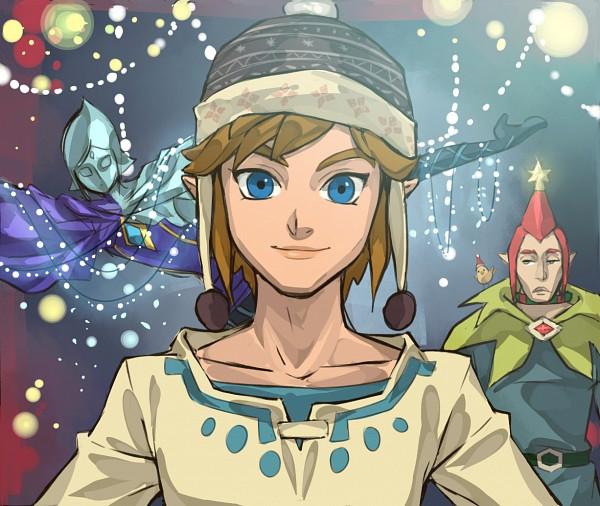Tags: Anime, Francisca Alday, Zelda no Densetsu: Skyward Sword, Zelda no Densetsu, Fi, Link (Skyward Sword), Groose, Link, Fanart, PNG Conversion, Tumblr
